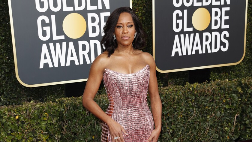 BEVERLY HILLS, CA-JANUARY 06: Regina King arriving at the 76th Golden Globes at the Beverly Hilton