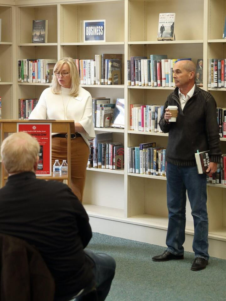 RSF Library Guild Exec Director Sara Shafer, guest author Don Winslow