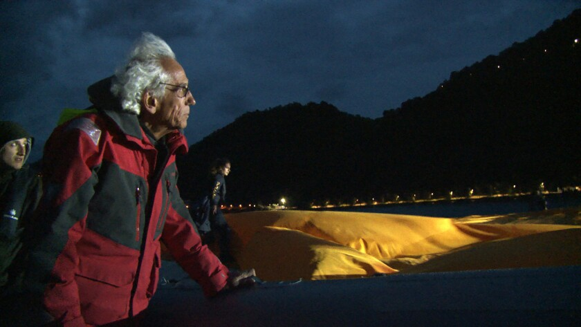 "Artist, Christo in a scene from the documentary ""Walking on Water."" Credit: Kino Lorber"