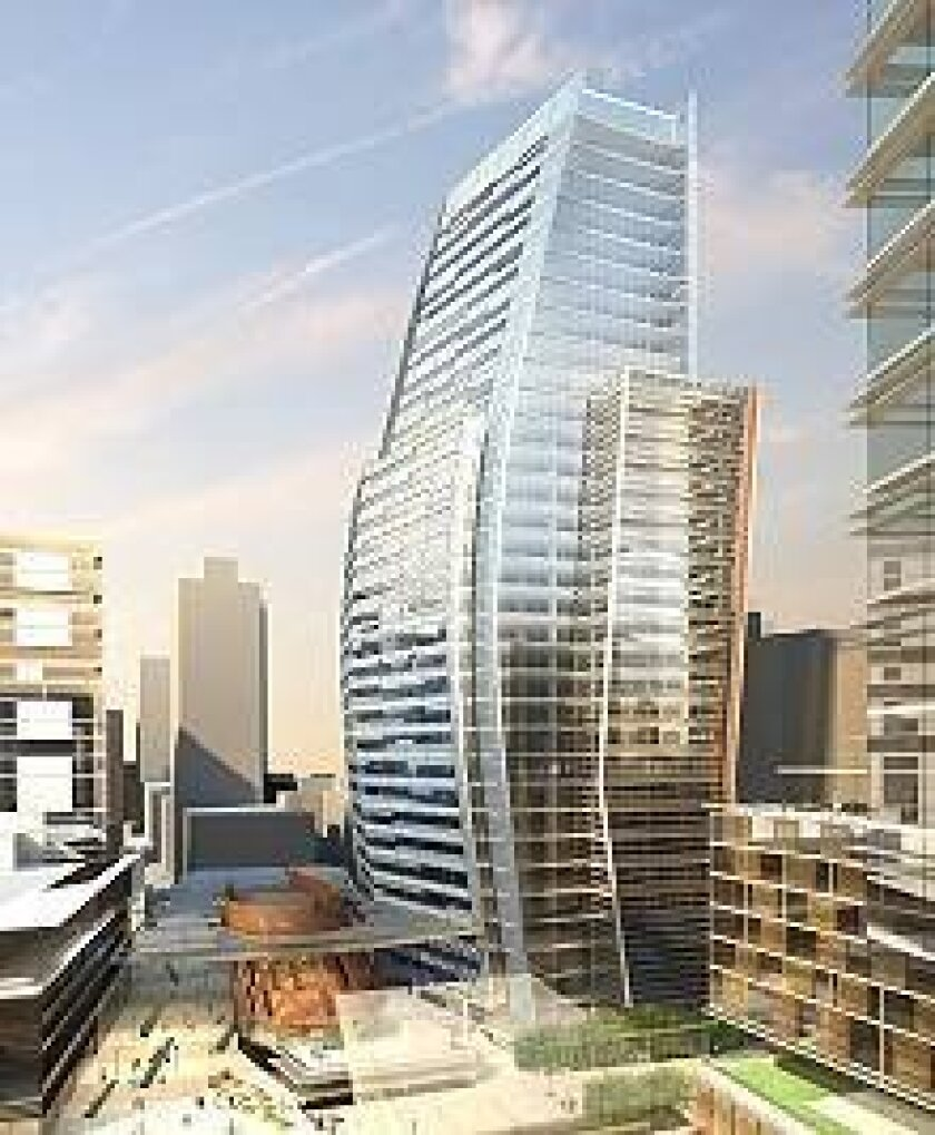 This is an architect's rendition of the City Hall project the City Council favors.