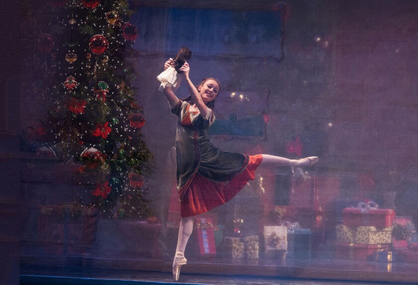 Los Angeles Ballet's The Nutcracker. Pictured, SarahAnne Perel.