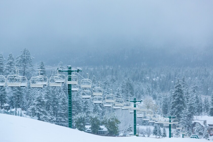 The Bear Mountain ski resort will open 8:30 a.m. to 4:30 p.m. Friday.