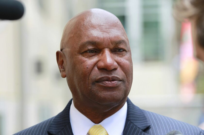 UCSD Director of Athletics Earl W. Edwards after undergraduates voted to more than double student athletics fees to fund a move to NCAA Division I in sports.