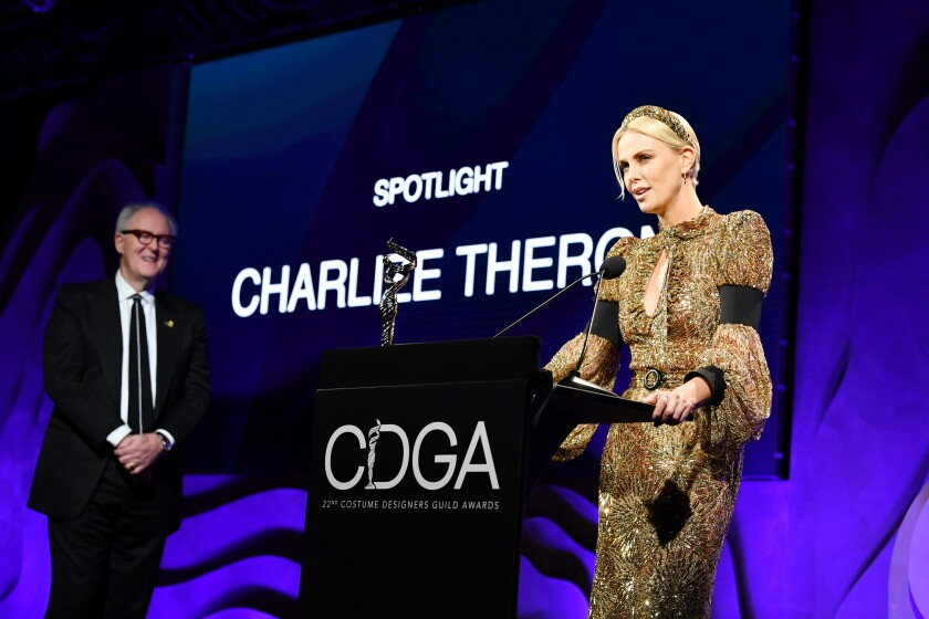 Charlize Theron at 22nd Costume Designers Guild Awards