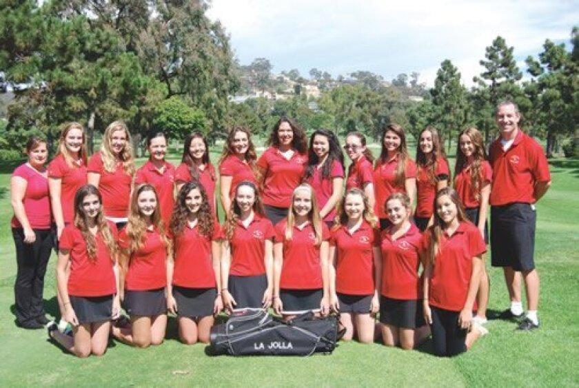 La Jolla High School girls' golf team. Courtesy