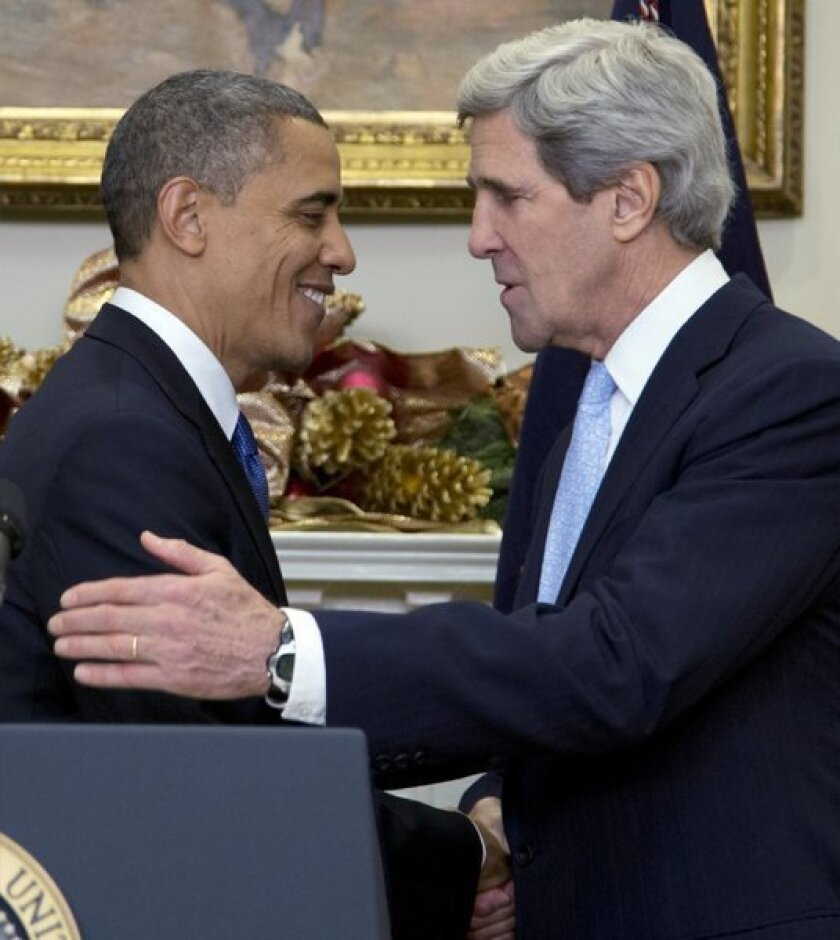 President Obama has nominated Sen. John Kerry (D-Mass.) to become the next secretary of State.
