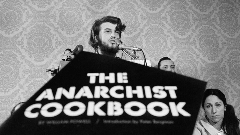 """William Powell, author of """"The Anarchist Cookbook,"""" in the documentary """"American Anarchist."""""""