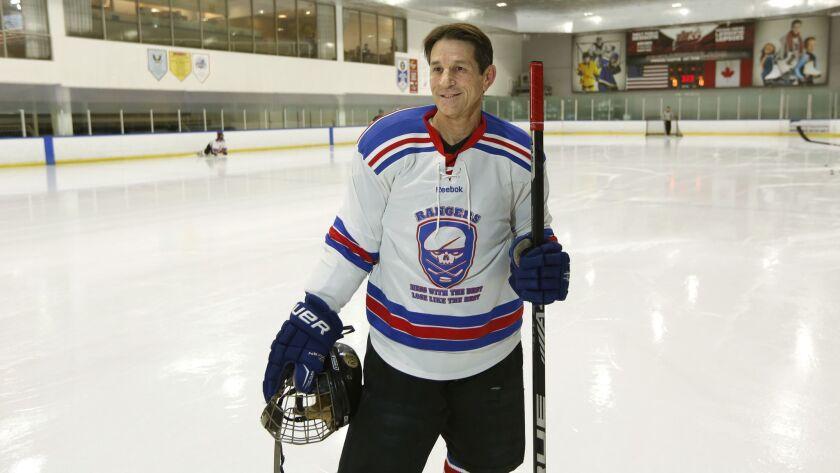 Randy Gerson, 60, plays hockey twice a week at UTC Ice Sports Center.