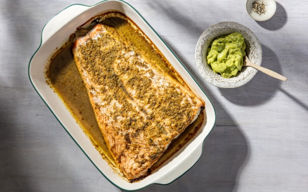 Slow-Roasted Salmon with Spiced Citrus Mojo