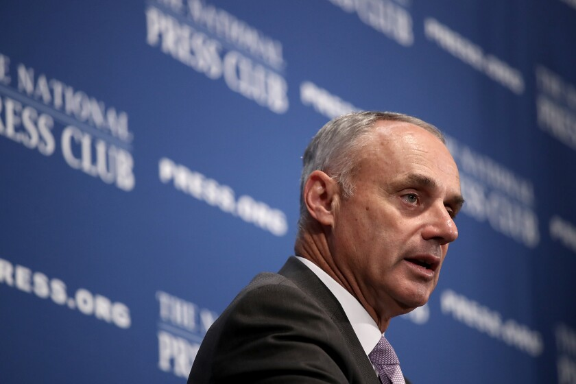 Rob Manfred acknowledges Astros' sign-stealing continued through 2017 playoffs