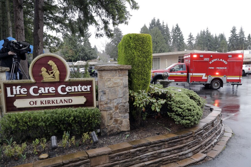 The Life Care Center nursing home in Kirkland, Wash.