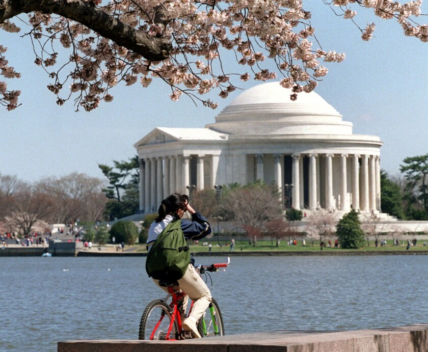 The Jefferson Memorial in Washington on April 4, 2001.