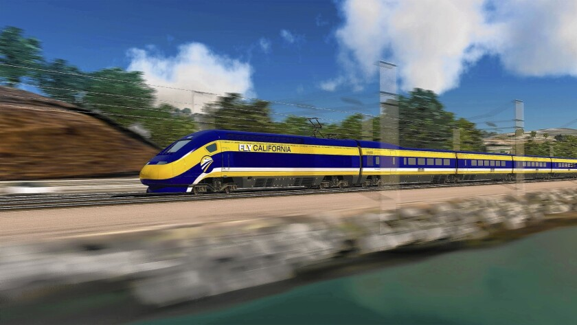 An artist's rendering of the high-speed rail line.