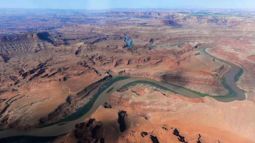 This May 23 photo shows a portion of the proposed Bears Ears region, along the Colorado River, in southeastern Utah.