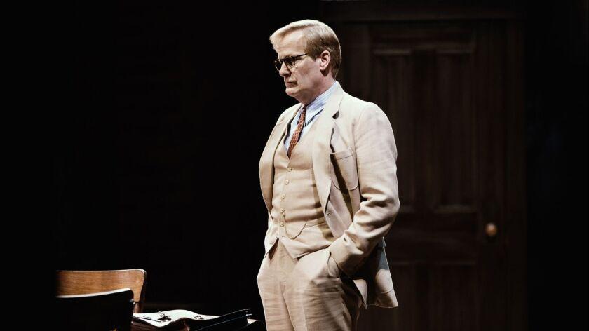 "Jeff Daniels in Aaron Sorkin's adaptation of Harper Lee's ""To Kill a Mockingbird,"" directed by Bartlett Sher at Broadway's Sam S. Shubert Theatre"
