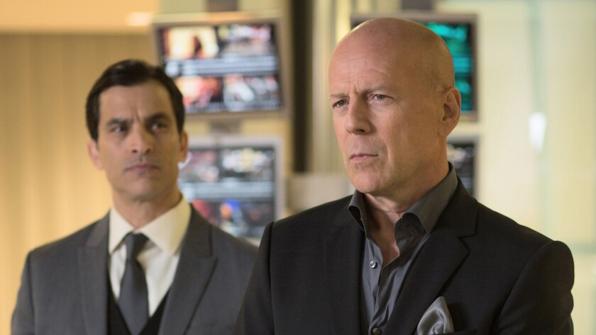 "Chris (Johnathon Schaech, left) and Julian (Bruce Willis) star in the movie ""Vice,"" directed by Brian A. Miller."
