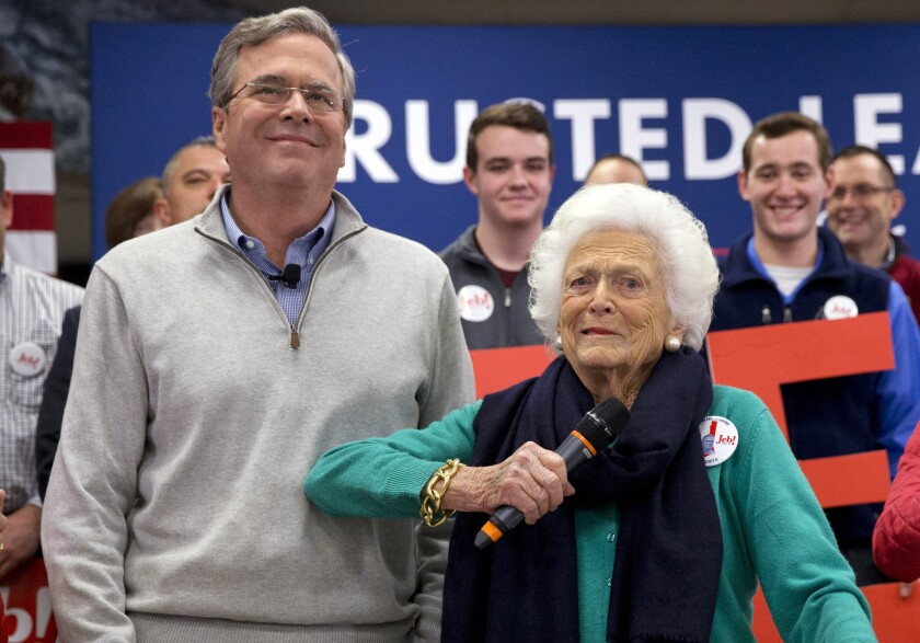 Jeb Bush and his mother