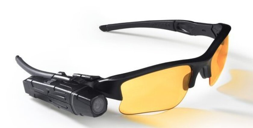 San Diego police are trying out body cameras, including the TASER AXON Flex. It can attach to glasses or other parts of the uniform.