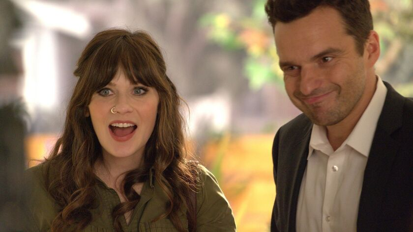 """Zooey Deschanel and Jake Johnson star in the season premiere of """"New Girl"""" on Fox."""