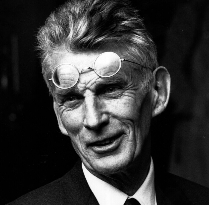 Samuel Beckett smiles for the camera