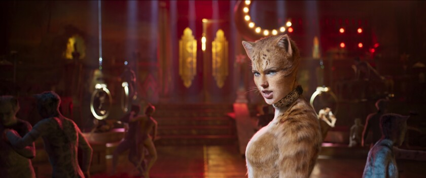 "Taylor Swift as Bombalurina in ""Cats."""