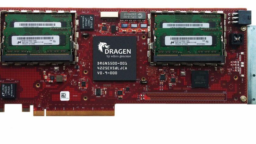 The Dragen Bio-IT Processor shown here in a 2014 file photo.