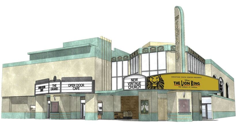 The New Vintage Church plans to renovate the abandoned Ritz Theater on the corner of Grand Avenue in