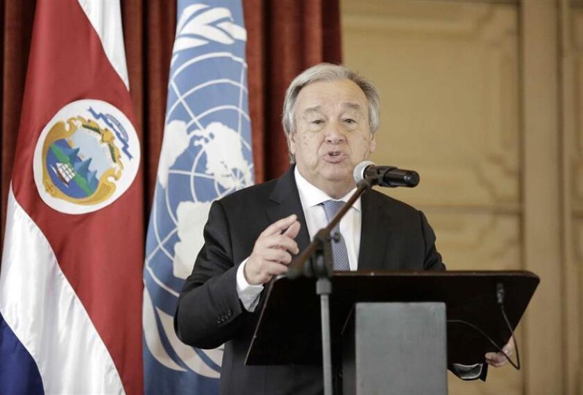 """Las nuevas autoridades de Colombia tienen la """"responsabilidad crítica"""" de restaurar la confianza entre los exguerrilleros de las FARC, advirtió el jefe de Naciones Unidas, António Guterres, en un informe publicado hoy. EFE/ARCHIVO"""