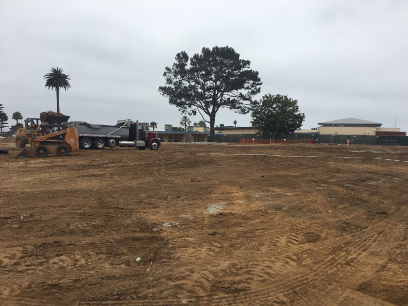 The Cardiff School is being rebuilt as part of Measure GG, the $22 million bond measure approved by voters in 2016.