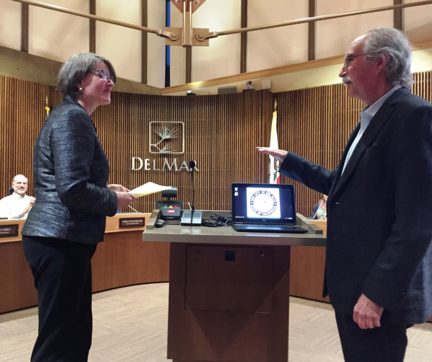 Del Mar City Councilwoman Ellie Haviland is the city's new mayor.