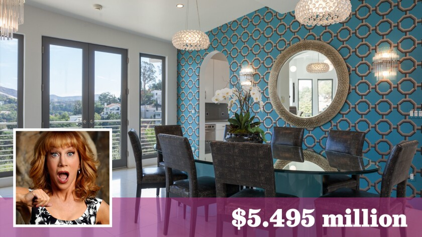 Actress-comedian-television host Kathy Griffin, who in July bought a new home in Bel-Air, has put her old house in the Hollywood Hills on the market for $5.495 million.