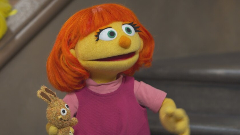 """Sesame Street"" to introduce Julia in April."