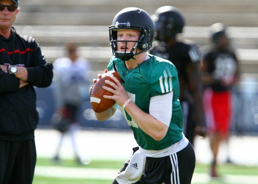Northern Illinois University quarterback Ryan Graham..photo by Bill Wechter