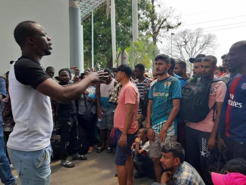 Al menos 5.874 migrantes están en tránsito por sureste de México