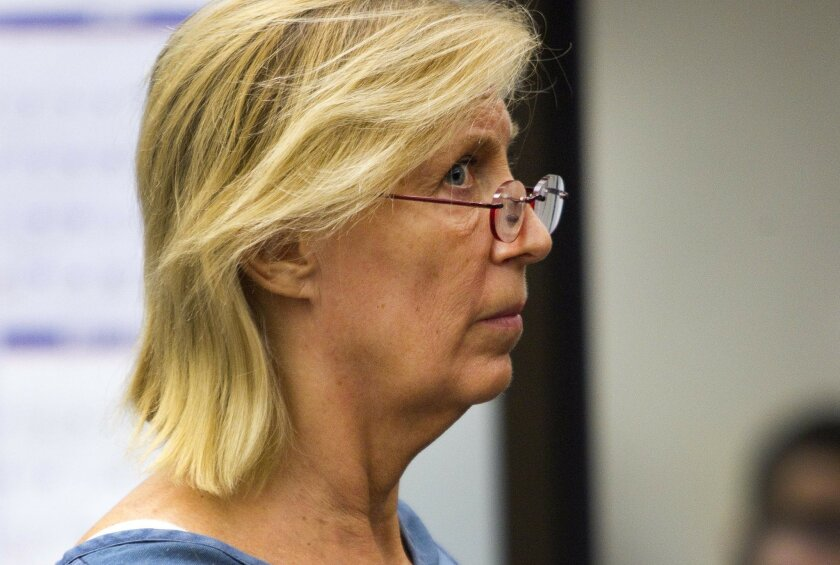Kathleen Helms appears at her arraignment in San Diego Superior Court. She pleaded guilty in 2012 to practicing medicine without a license, and was sentenced on Feb. 25, 2013, to three years in custody.