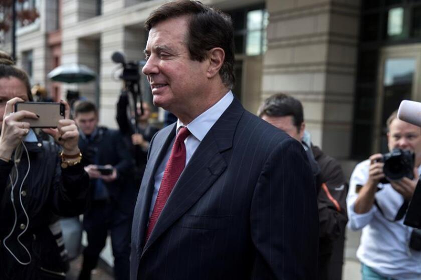 Una jueza de Washington accedió a poner en libertad condicional a Paul Manafort, exjefe de campaña del presidente Donald Trump que se encuentra actualmente en el arresto domiciliario, y le impuso una fianza de 10 millones de dólares. EFE/ARCHIVO