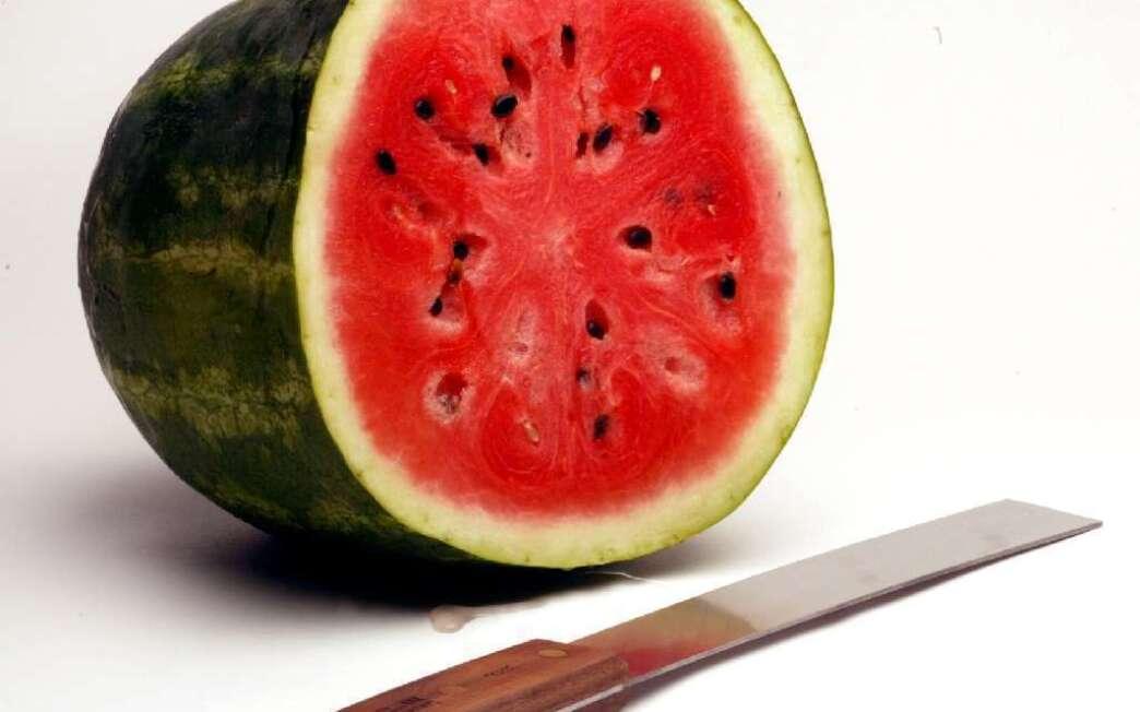 Watermelon blueberry soup