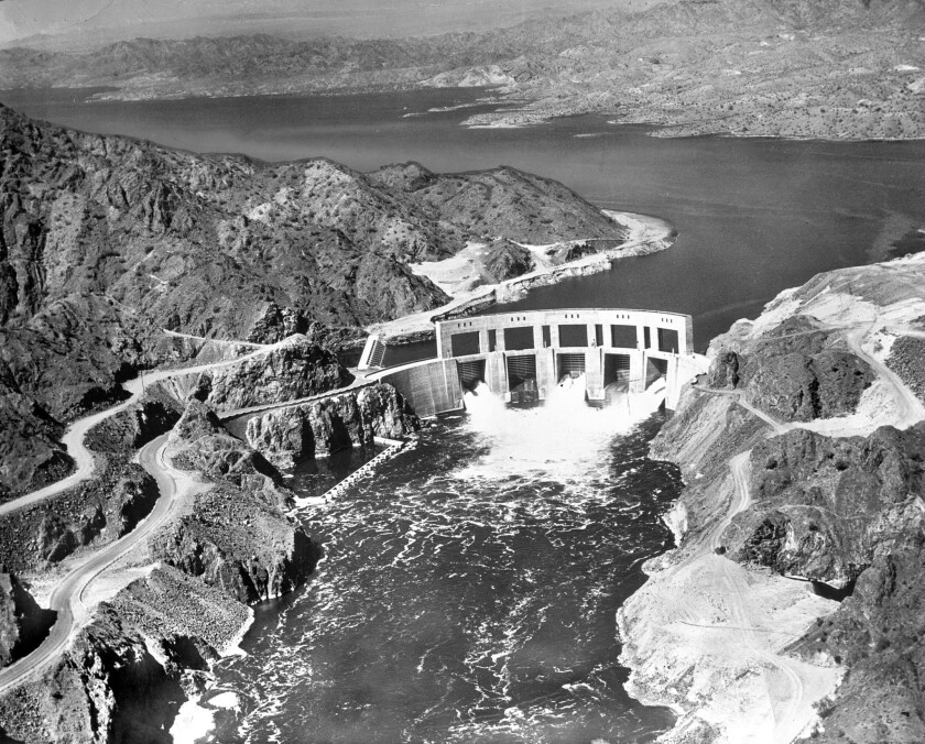 Parker Dam and Lake Havasu on the Colorado River in 1939. In 1922, six of seven states signed the Colorado River Compact. Upset with its allotment, Arizona refused to sign. So when Parker Dam construction began, Arizona sought to block the project.
