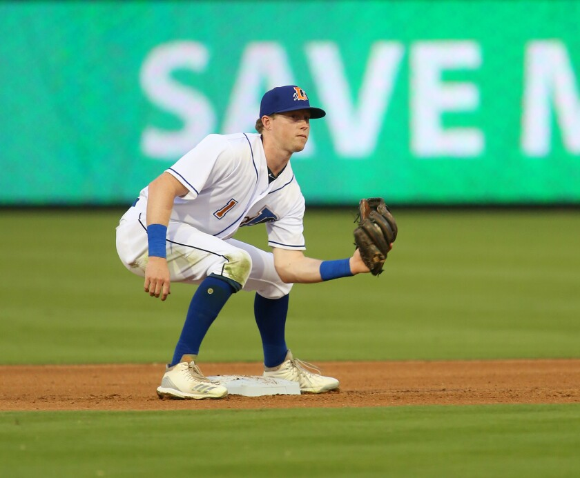 Jake Cronenworth, here playing infield for the Triple-A Durham Bulls, is also a pitcher.