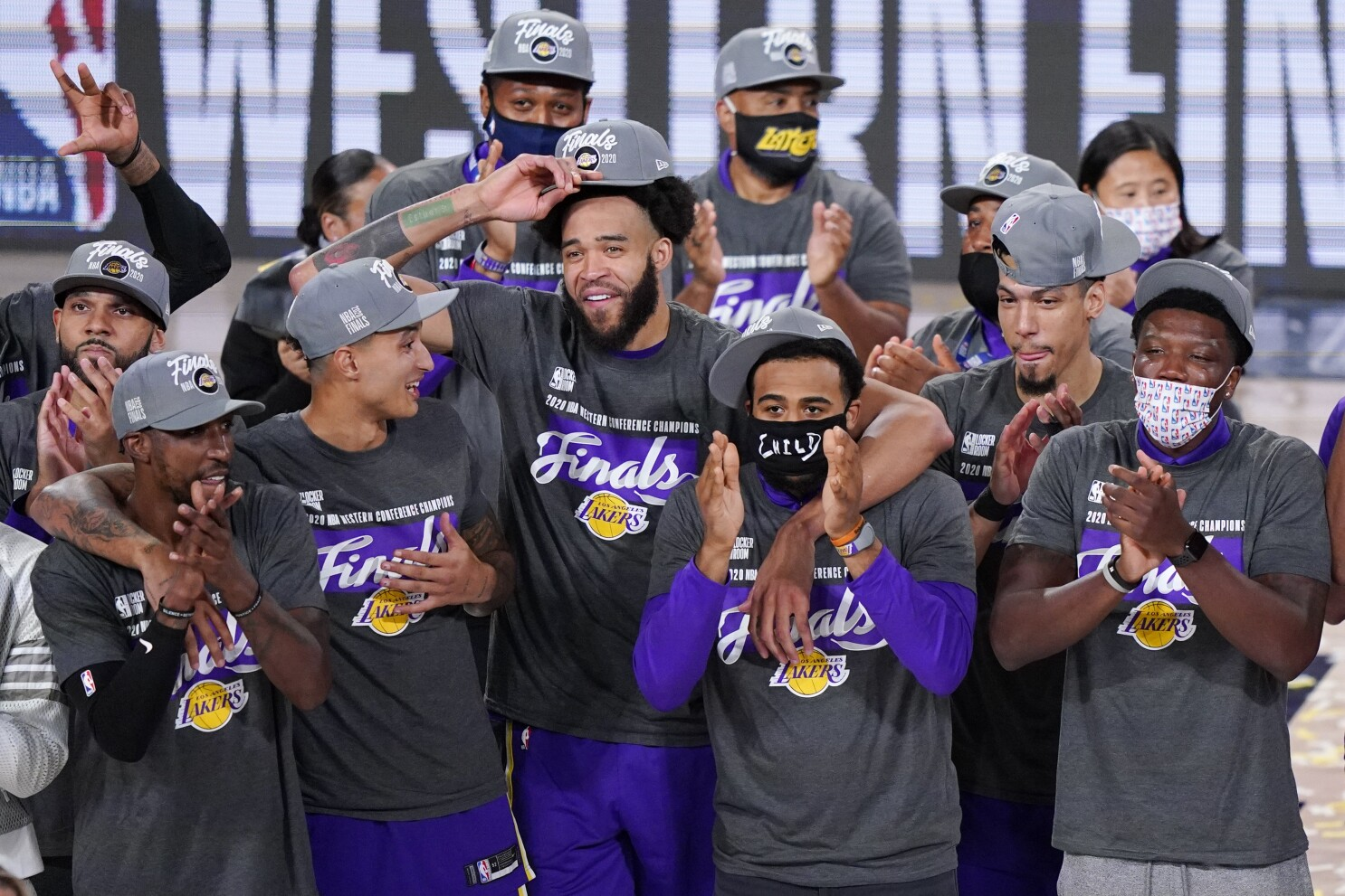 At Long Last Storied Lakers Franchise Returns To Nba Finals Los Angeles Times