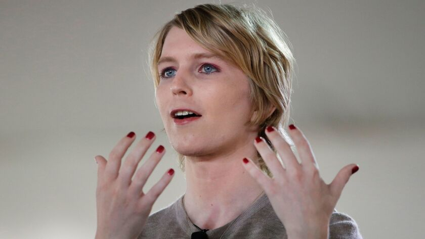 Chelsea Manning says she's running for the U.S. Senate in Maryland.