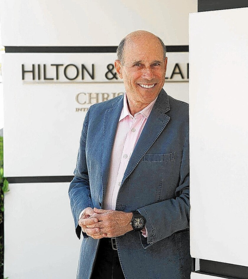 Jeff Hyland, 67, is president of Hilton & Hyland. The boutique real estate firm is known for selling some of the highest-profile homes in Los Angeles.