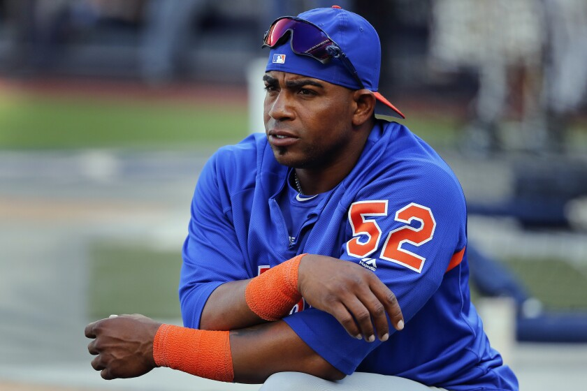 Cespedes Arrives At Spring Training As Silent As His Bat The San Diego Union Tribune