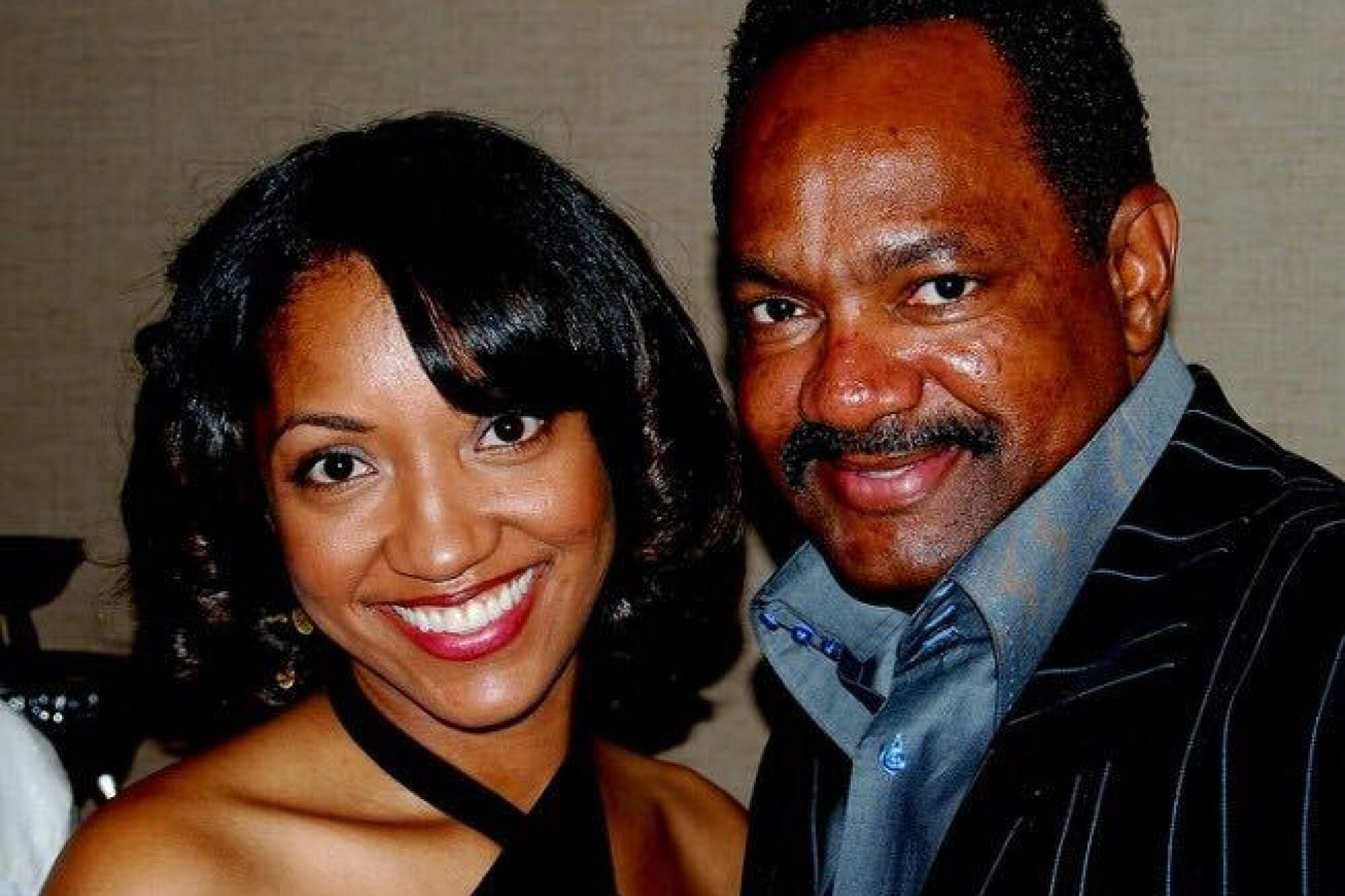 """Chanell Jackson with her father, Charles """"Chuck"""" Jackson."""