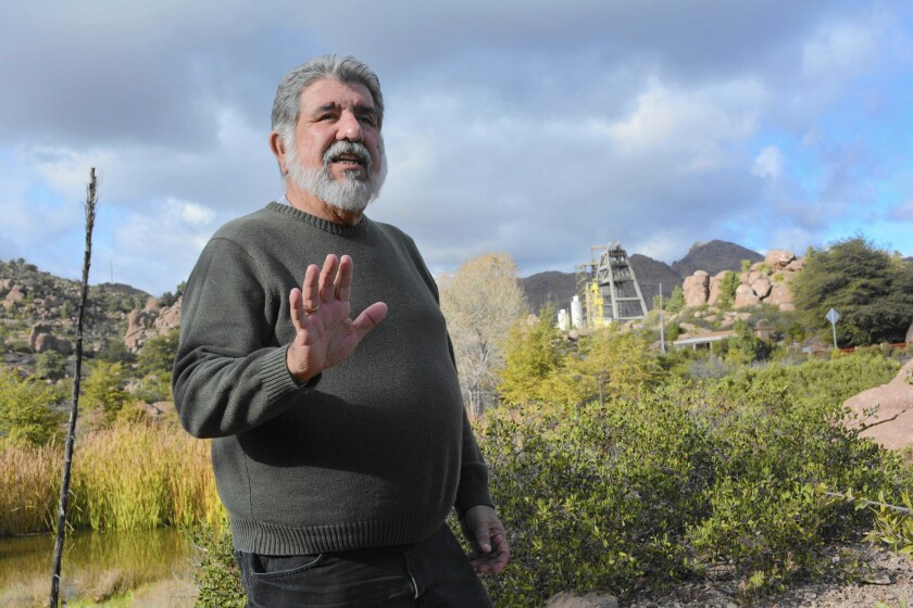 Roy Chavez, a former mayor of Superior, Ariz., and a miner himself, says Resolution Copper's method of extraction is harmful to the environment. A company spokesman insists it is eco-friendly.