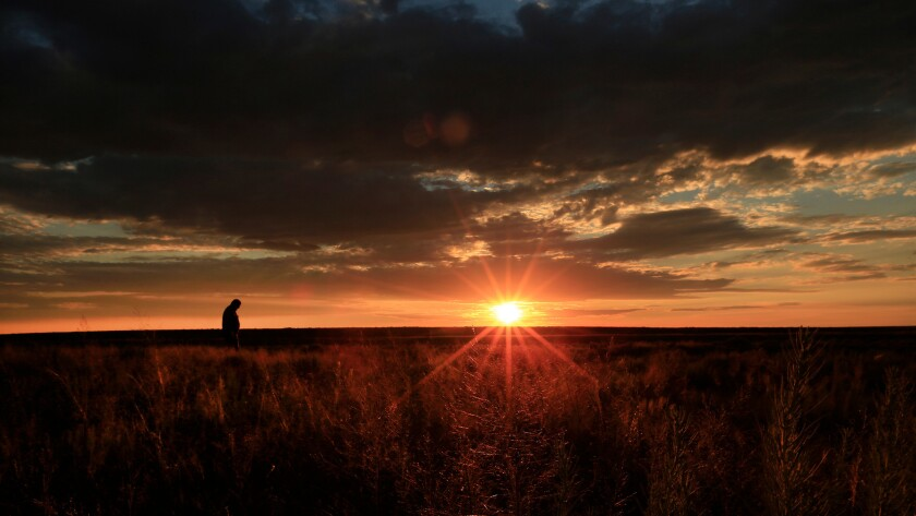 Sunrise near Eads, Colorado, on June 29