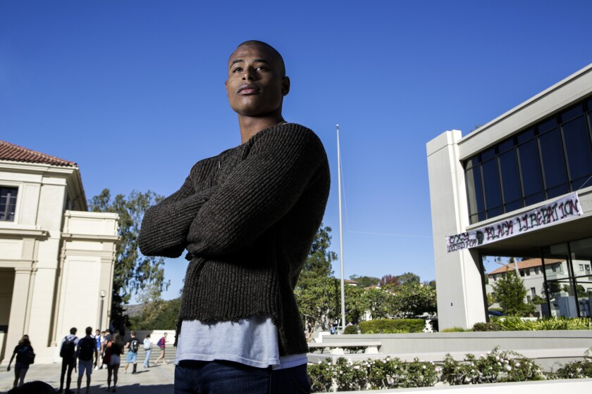 """Alton Luke II, an African American student at Occidental College, says he has been criticized for not joining the school's diversity movement. """"It's not a healthy environment,"""" he says."""