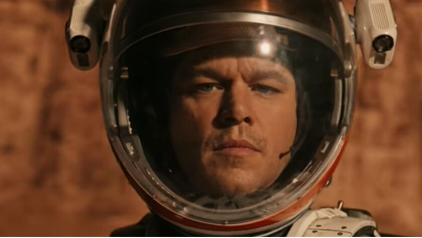 "Matt Damon, stranded far from home in ""The Martian."" But what was he doing up there in the first place?"