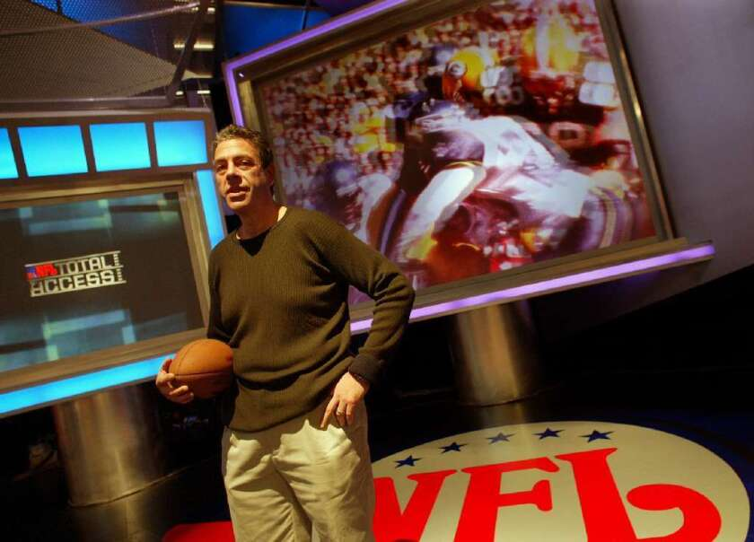 NFL Network chief Steve Bornstein before the launch of the channel in 2003.