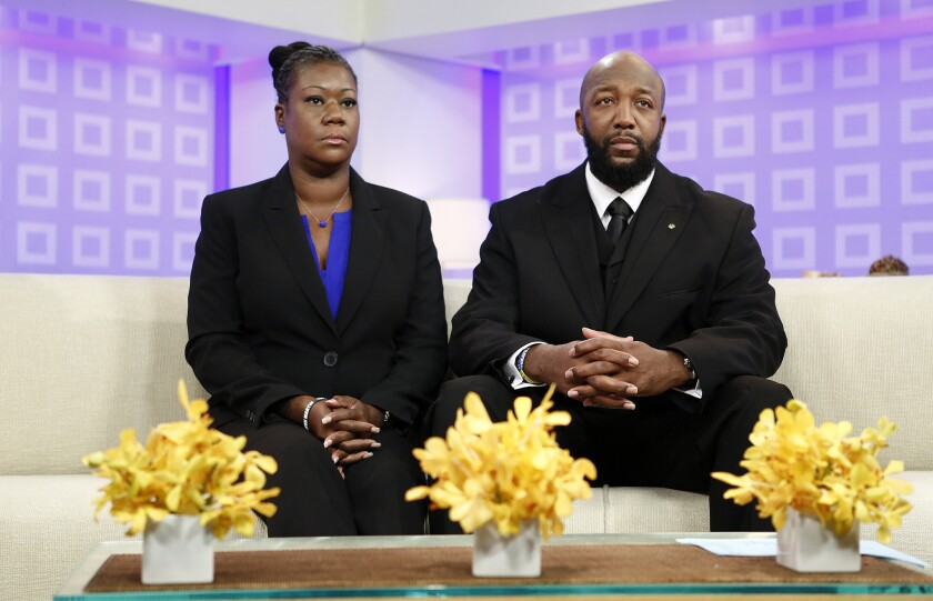 """The parents of Trayvon Martin, Sybrina Fulton, left, and Tracy Martin, appear on the """"Today"""" show in New York."""